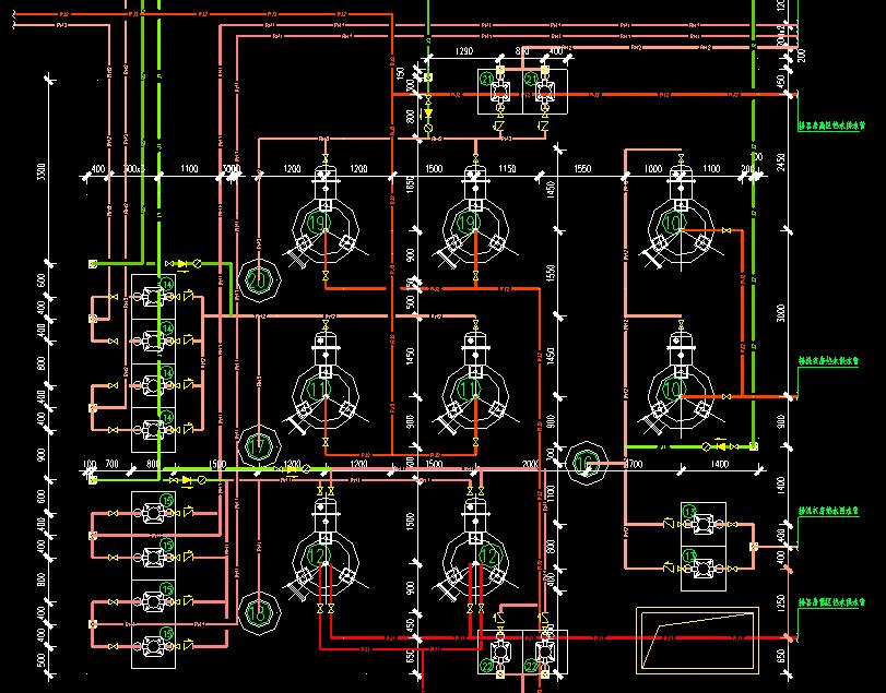 立式容积式换热器CAD图纸
